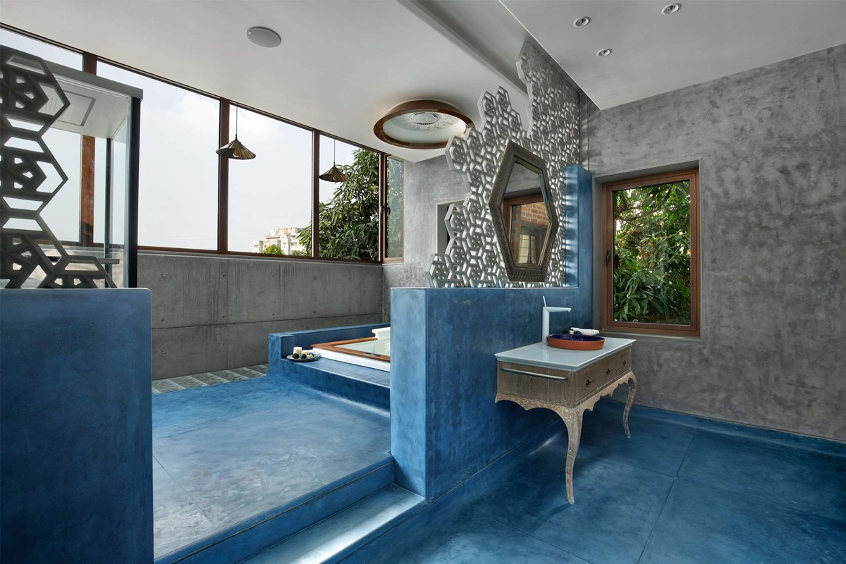 A Colour Rich Indian Home With Concrete Architecture And Interiors images 20
