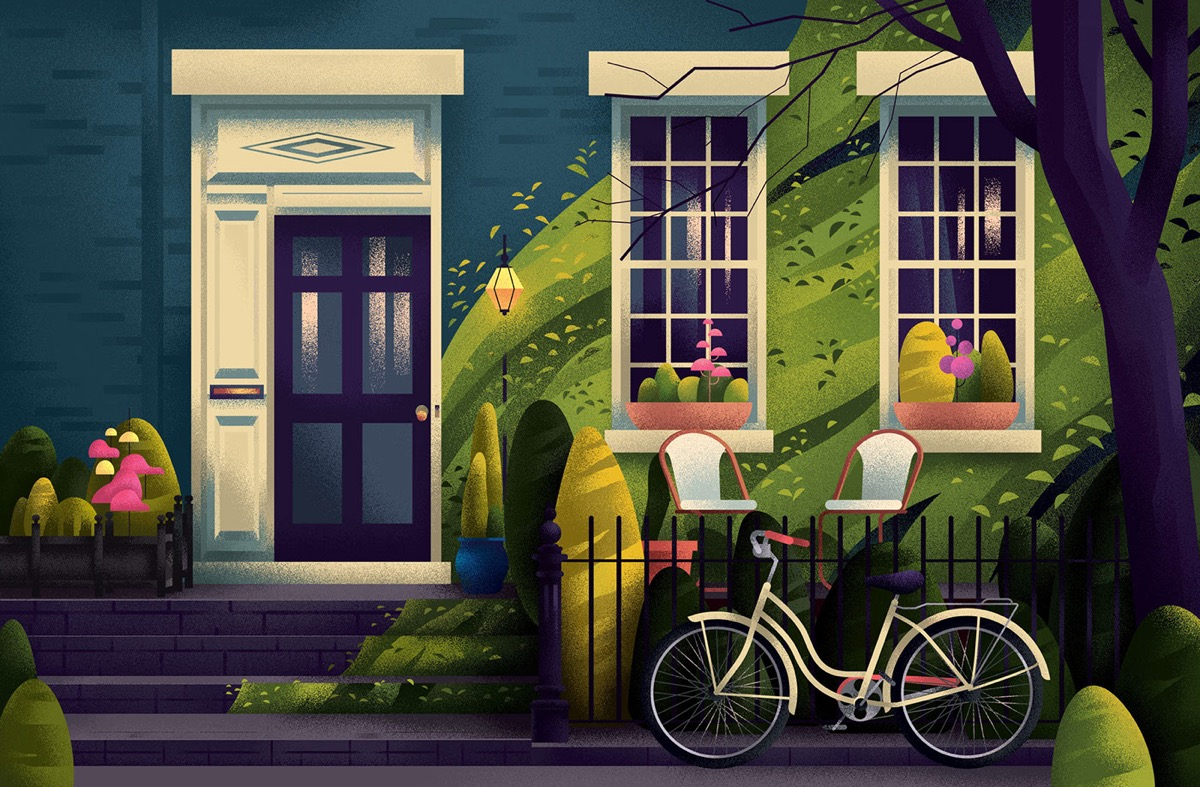 Captivating Architectural Illustrations Of Homes Around The World images 9