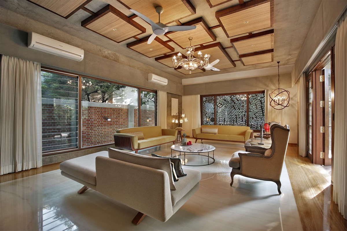 A Colour Rich Indian Home With Concrete Architecture And Interiors images 5