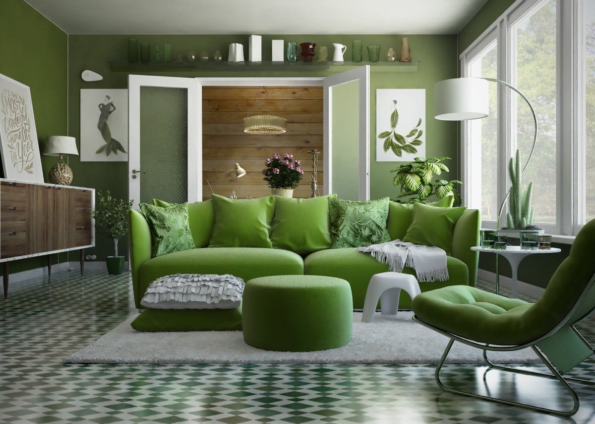 30 Gorgeous Green Living Rooms And Tips For Accessorizing Them images 3