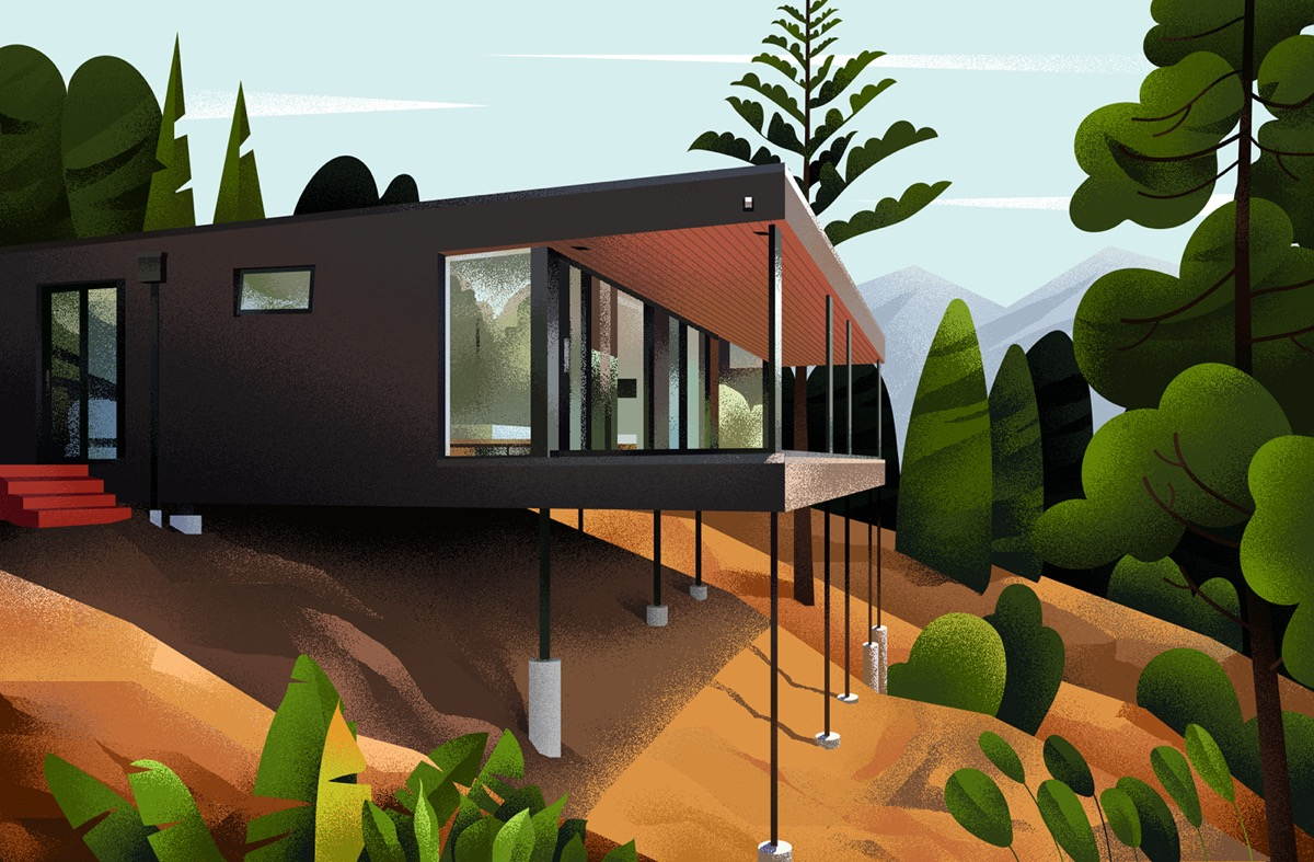 Captivating Architectural Illustrations Of Homes Around The World