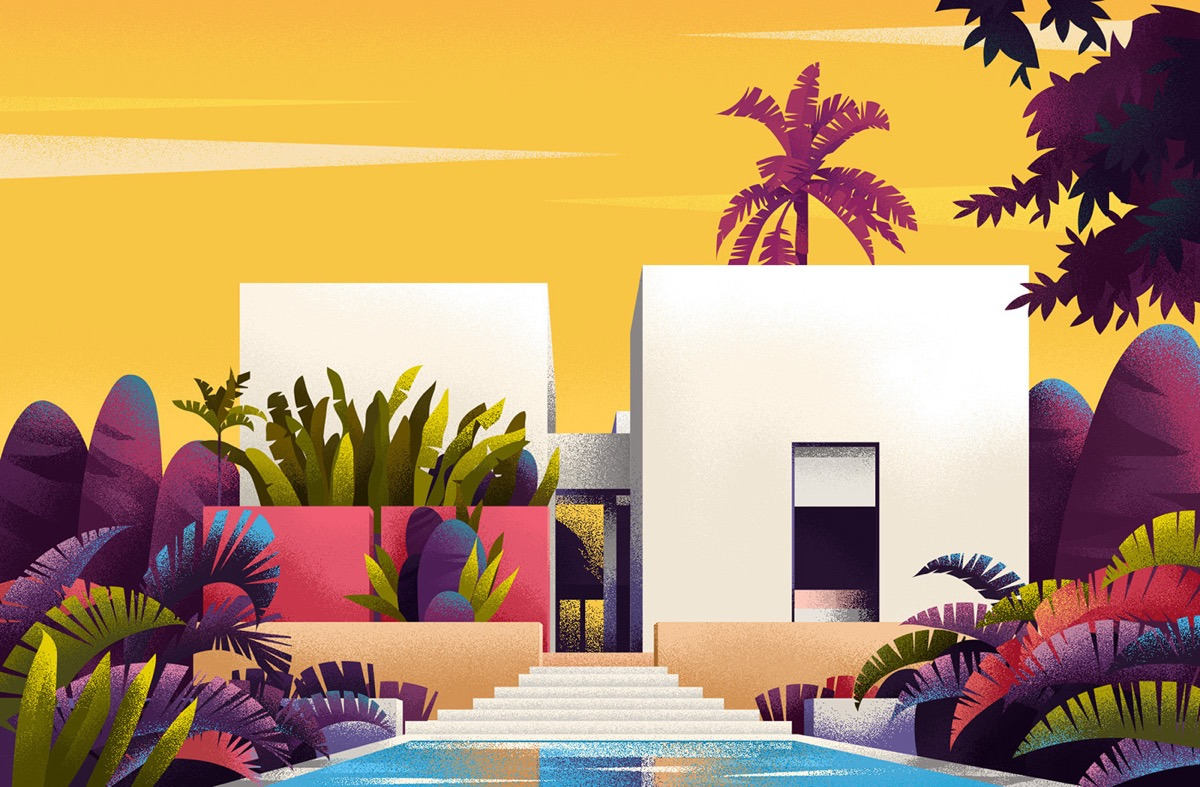 Captivating Architectural Illustrations Of Homes Around The World images 10