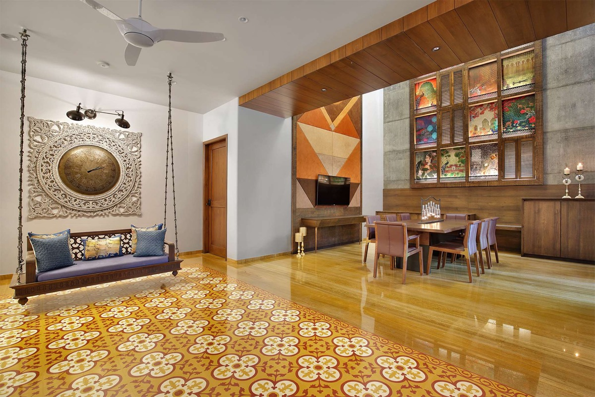 A Colour Rich Indian Home With Concrete Architecture And Interiors images 6