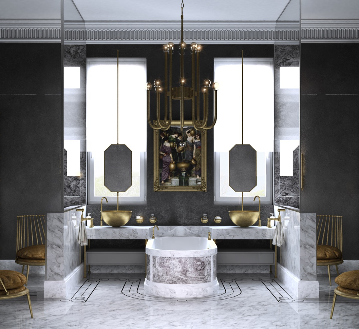 36 Modern Grey & White Bathrooms That Relax Mind Body & Soul images 32