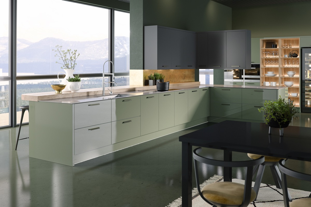 33 Gorgeous Green Kitchens And Ways To Accessorize Them images 14