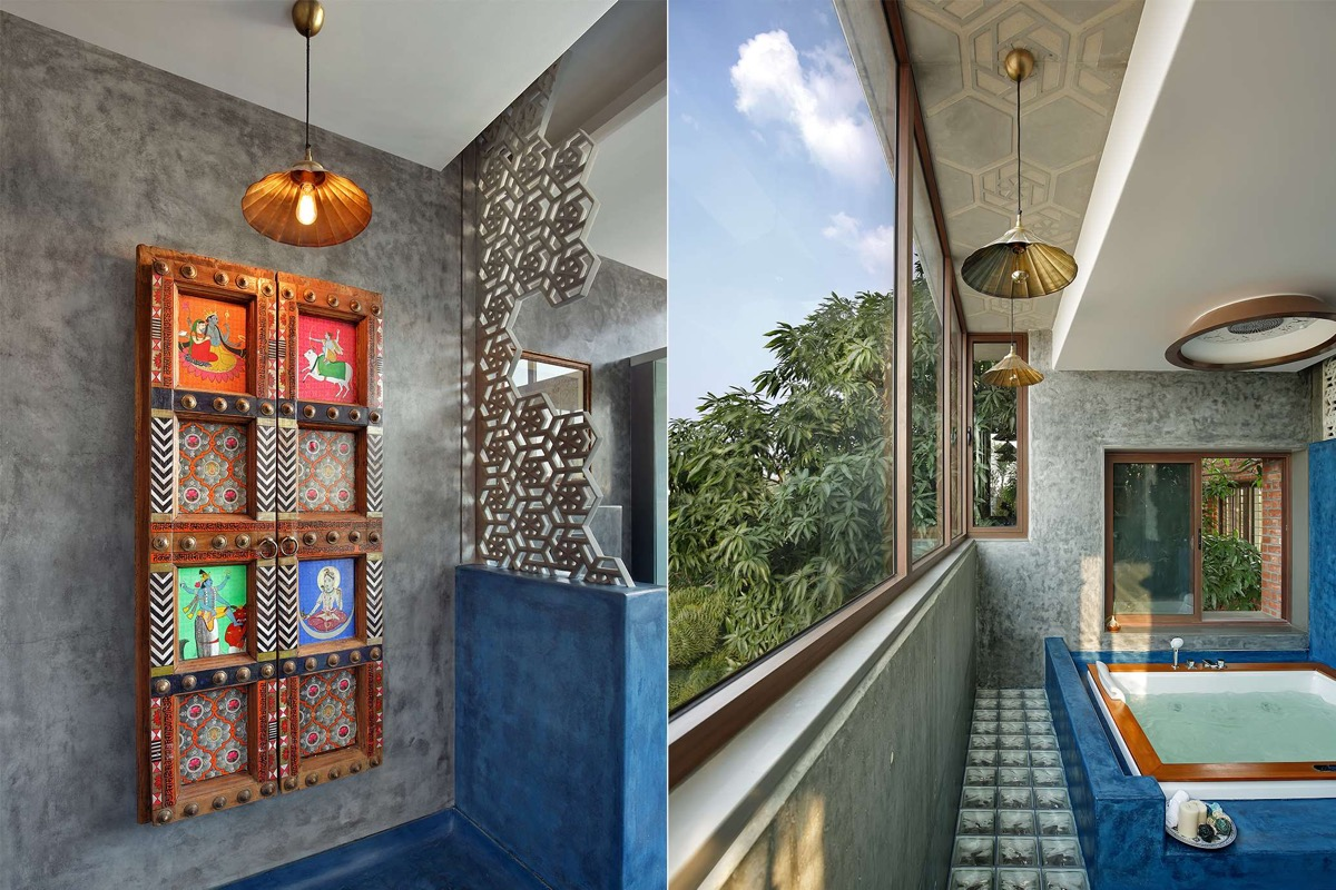 A Colour Rich Indian Home With Concrete Architecture And Interiors images 18