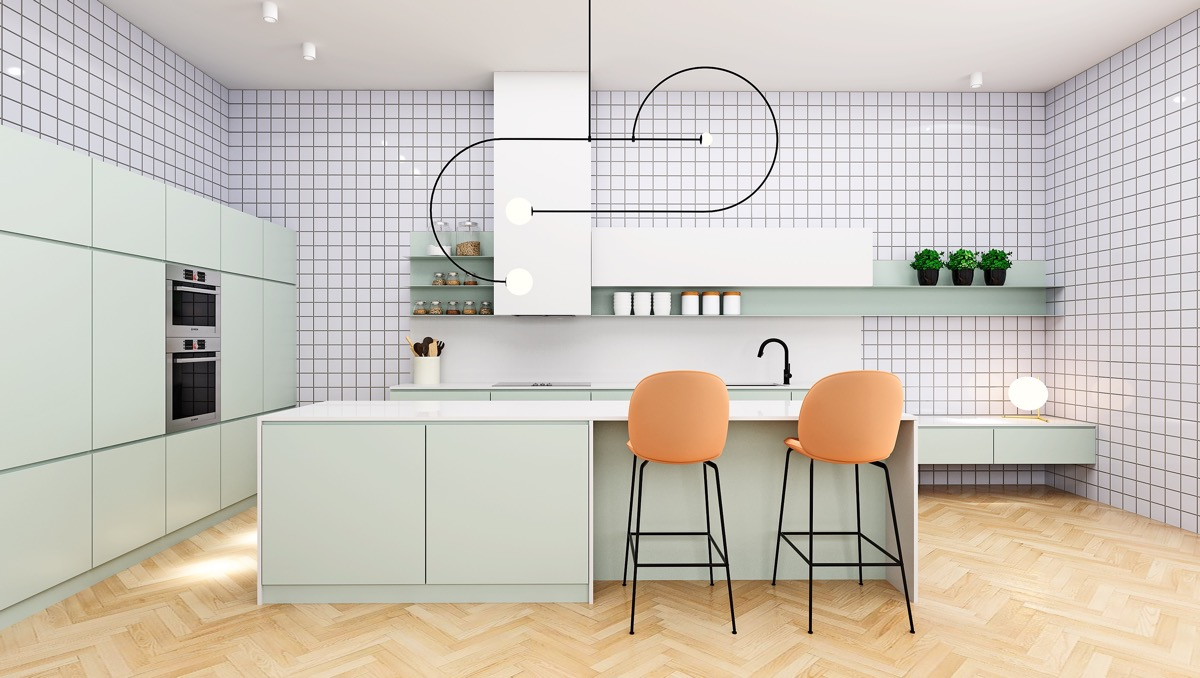 33 Gorgeous Green Kitchens And Ways To Accessorize Them images 13