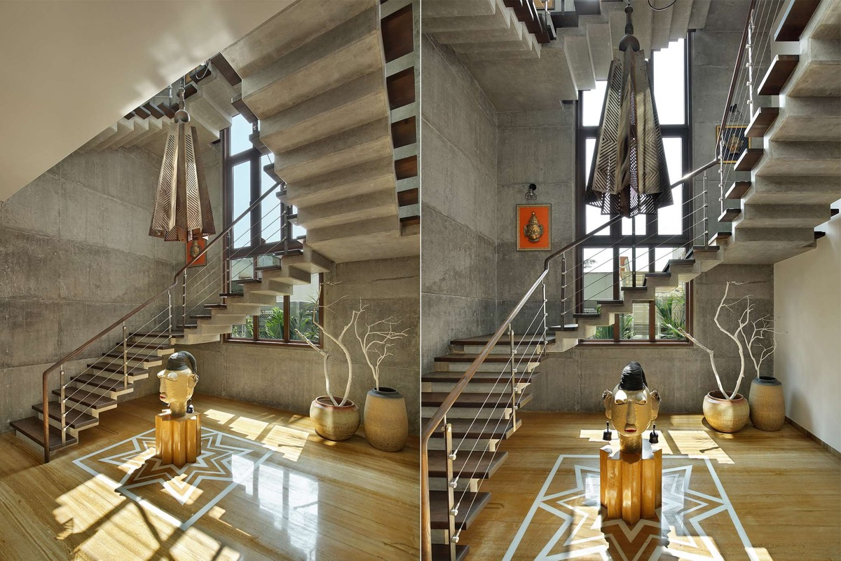 A Colour Rich Indian Home With Concrete Architecture And Interiors images 8