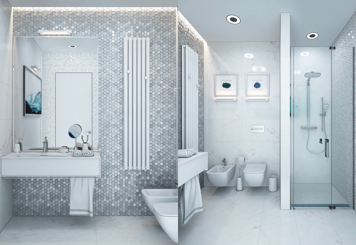 36 Modern Grey & White Bathrooms That Relax Mind Body & Soul images 28