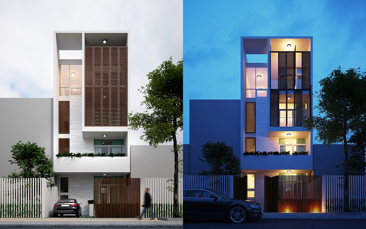 50 Narrow Lot Houses That Transform A Skinny Exterior Into Something Special images 17