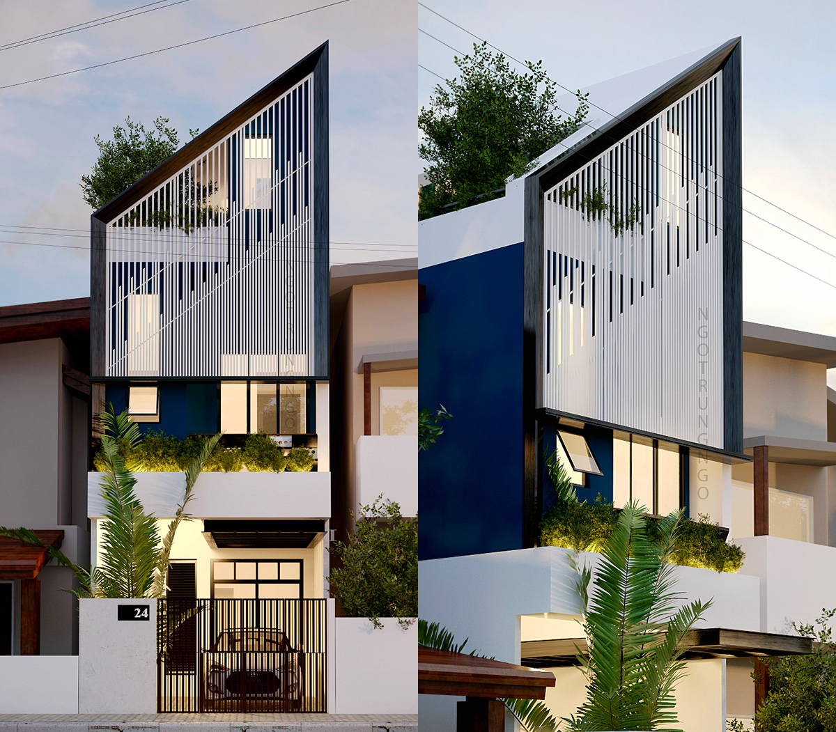 50 Narrow Lot Houses That Transform A Skinny Exterior Into Something Special images 21