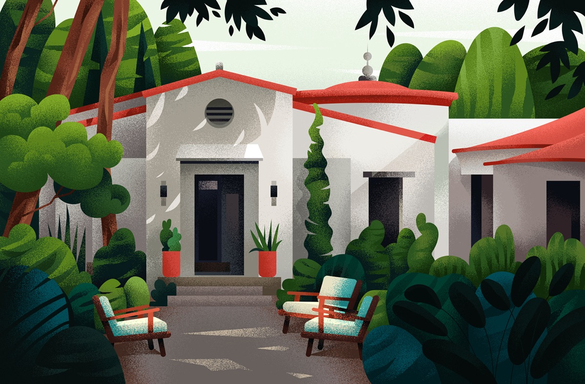 Captivating Architectural Illustrations Of Homes Around The World images 7