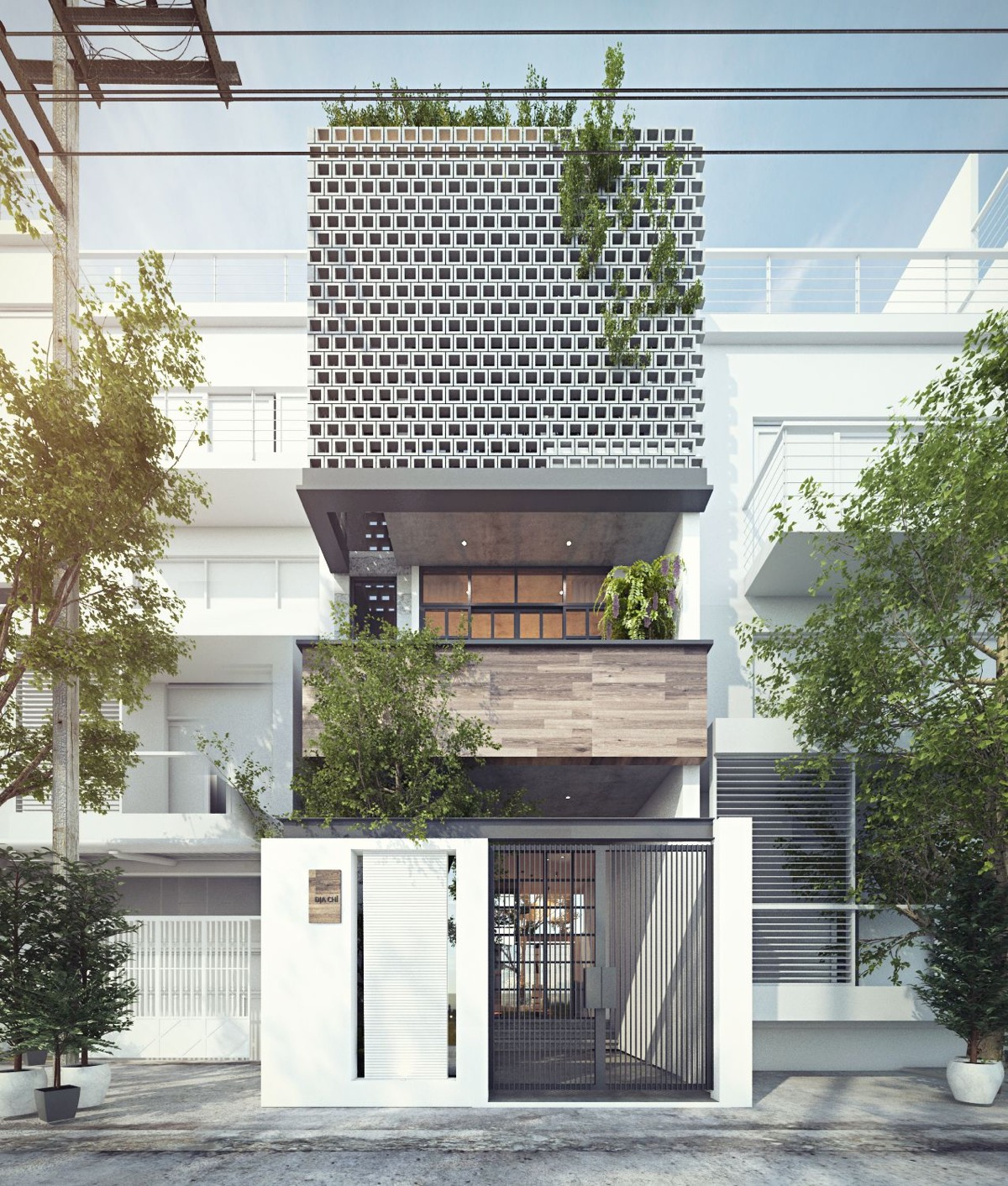 50 Narrow Lot Houses That Transform A Skinny Exterior Into Something Special images 22