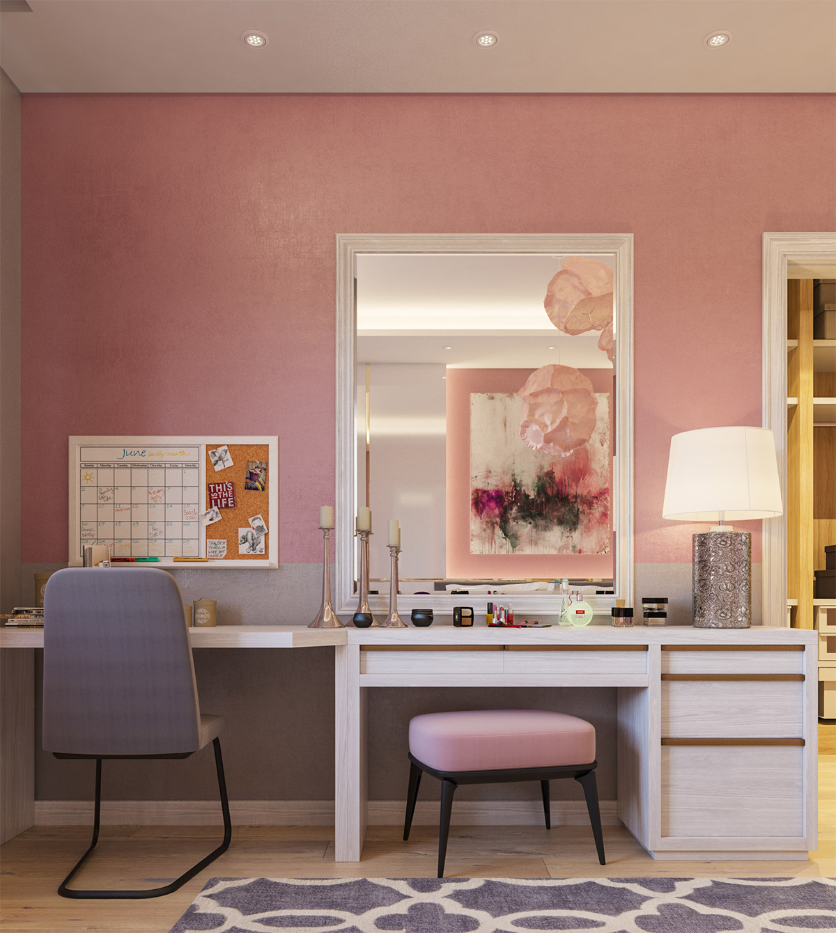 33 Gorgeous Makeup Vanities Plus Tips To Help You Accessorize Yours images 12