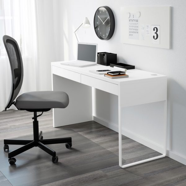 It White Modern Minimalist Ikea Micke Office Desk