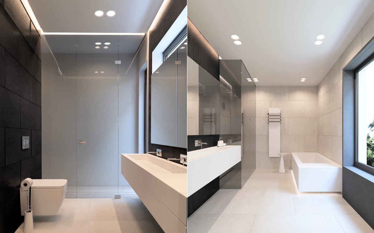 36 Modern Grey & White Bathrooms That Relax Mind Body & Soul images 21
