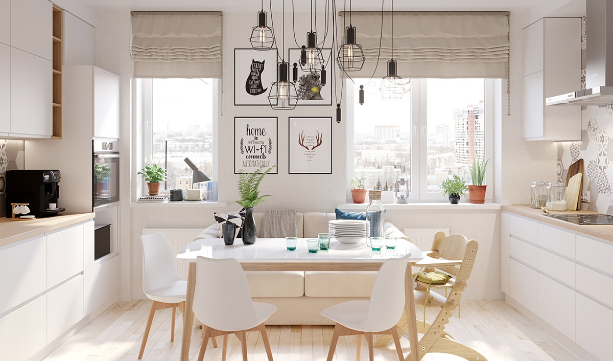 4 Bright & Cheerful Interiors That Use White & Wood To Good Effect images 6