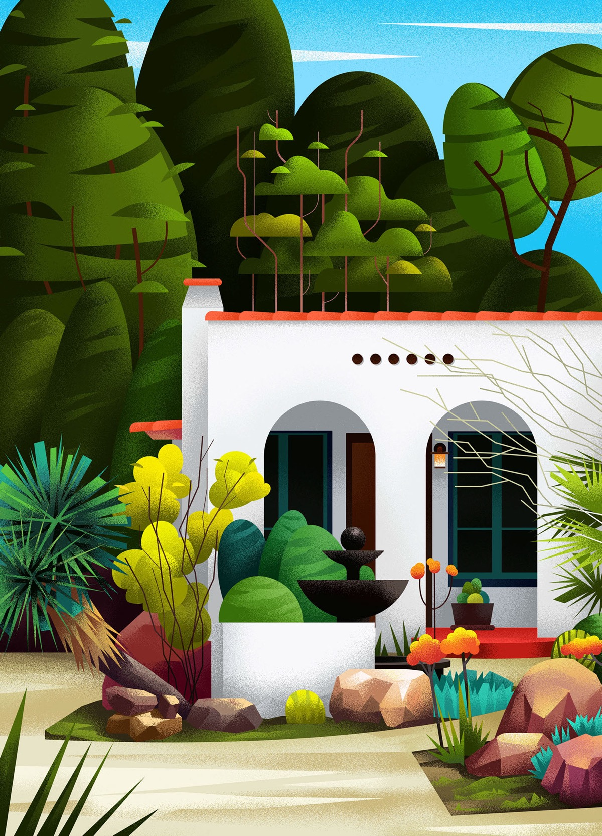 Captivating Architectural Illustrations Of Homes Around The World images 4
