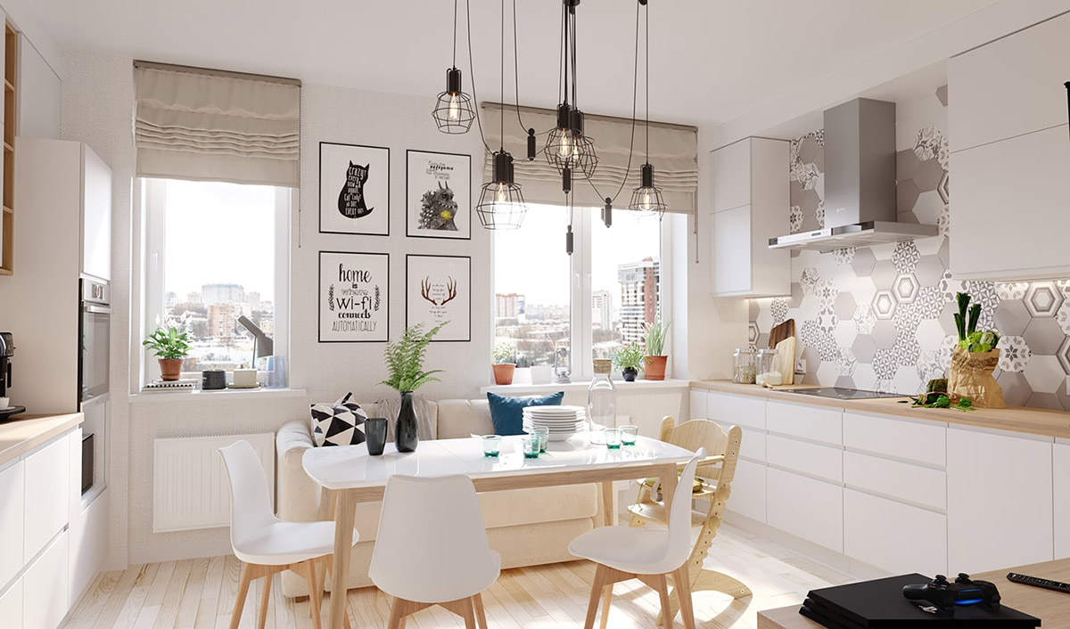 4 Bright & Cheerful Interiors That Use White & Wood To Good Effect images 4