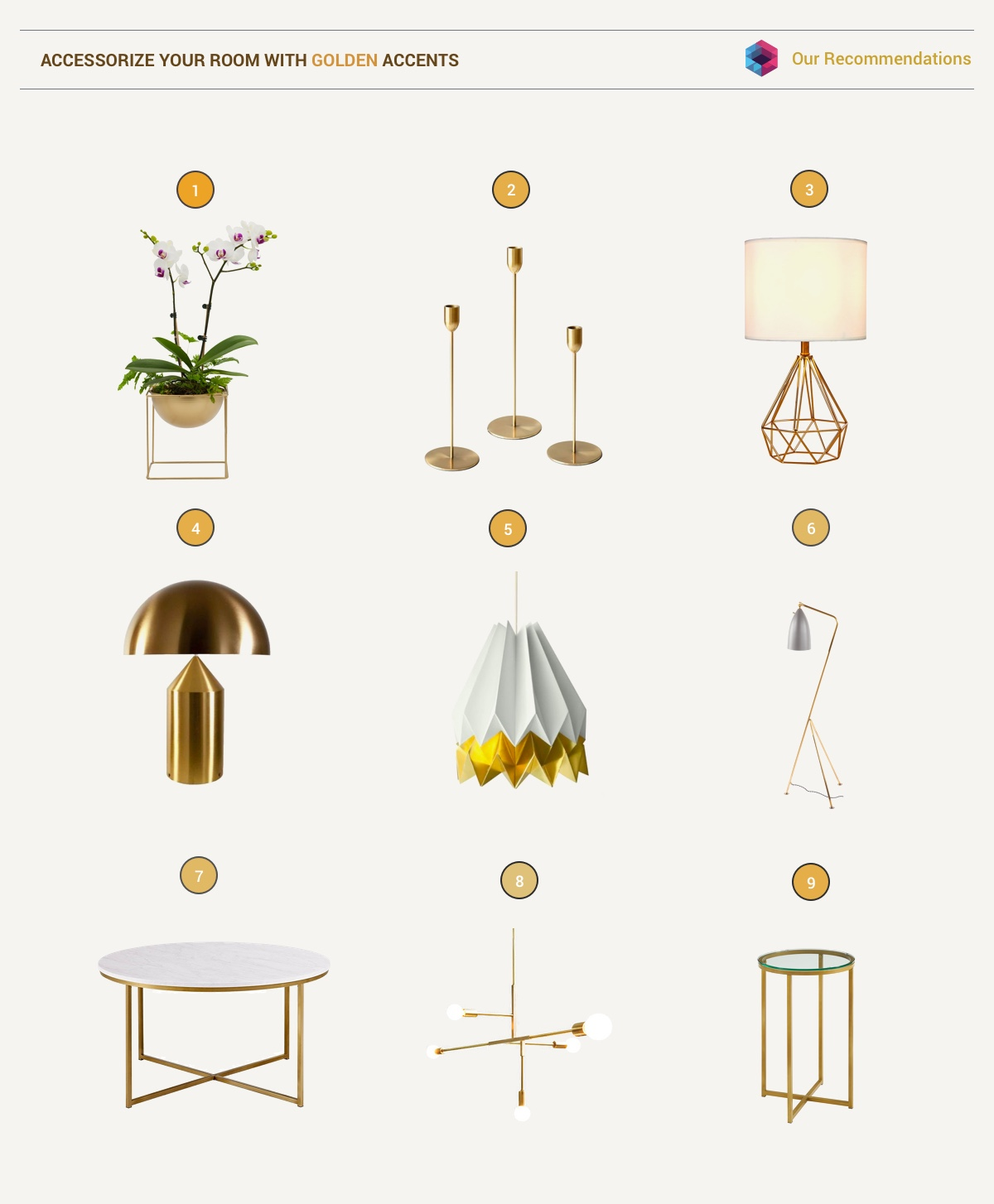 Using Gold Accents In Interior Design images 32