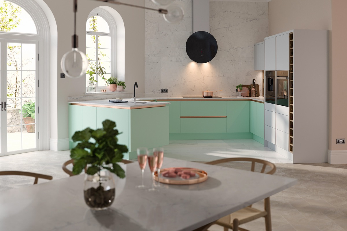 33 Gorgeous Green Kitchens And Ways To Accessorize Them images 11