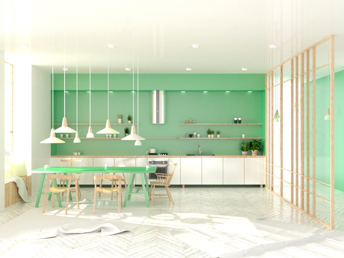 33 Gorgeous Green Kitchens And Ways To Accessorize Them ...