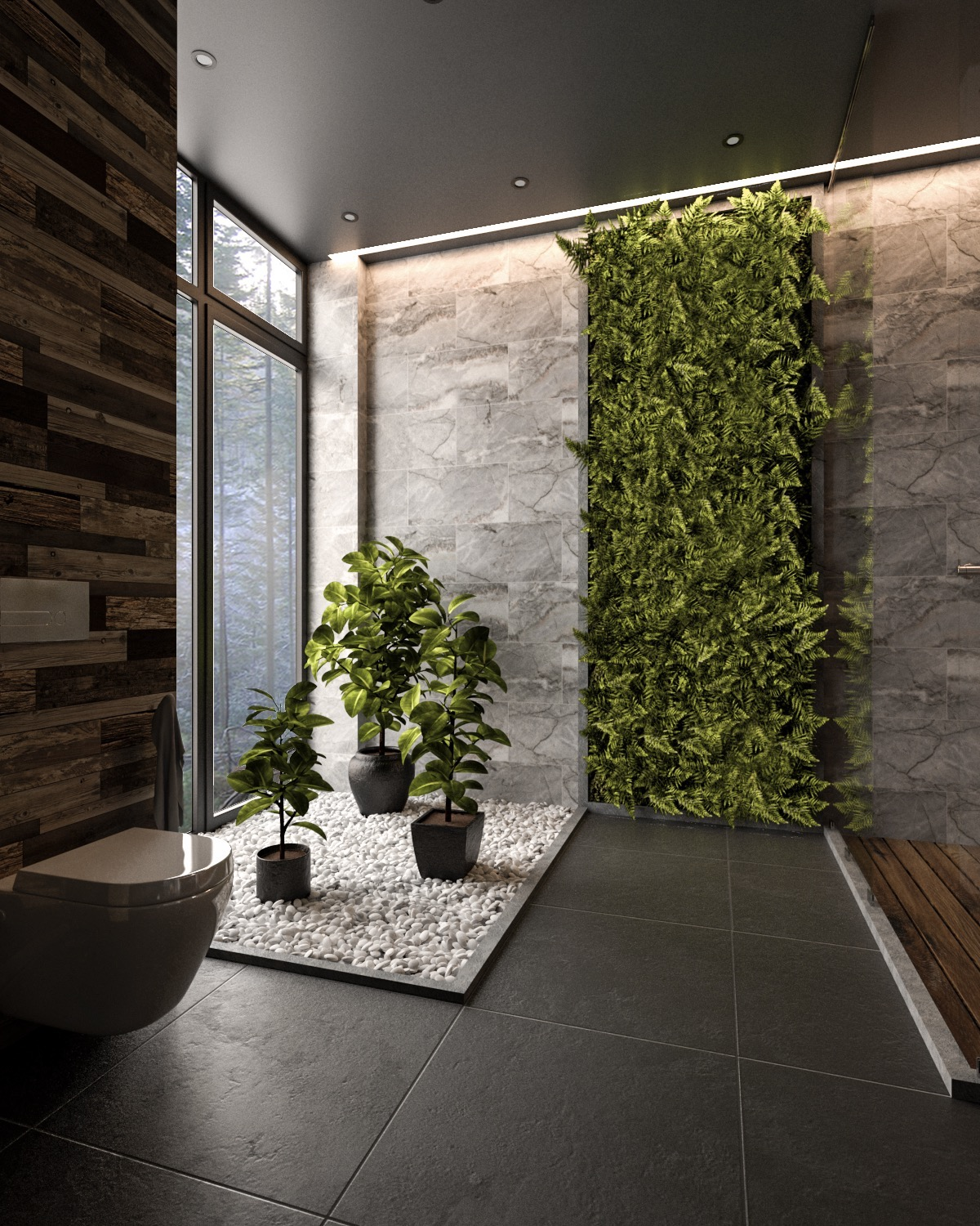 36 Modern Grey & White Bathrooms That Relax Mind Body & Soul images 24