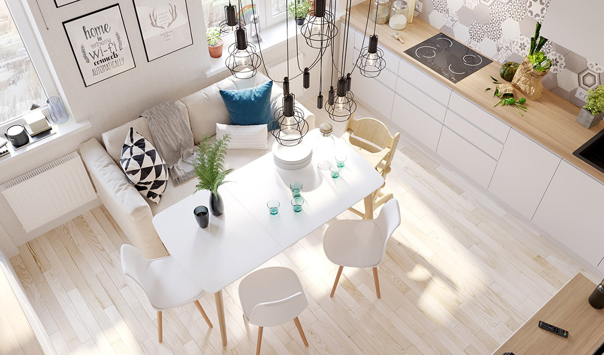 4 Bright & Cheerful Interiors That Use White & Wood To Good Effect images 2