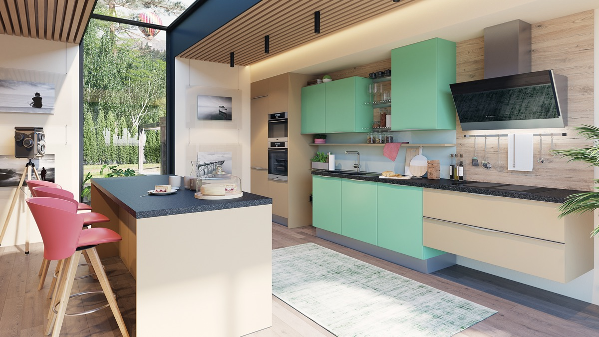 33 Gorgeous Green Kitchens And Ways To Accessorize Them images 24