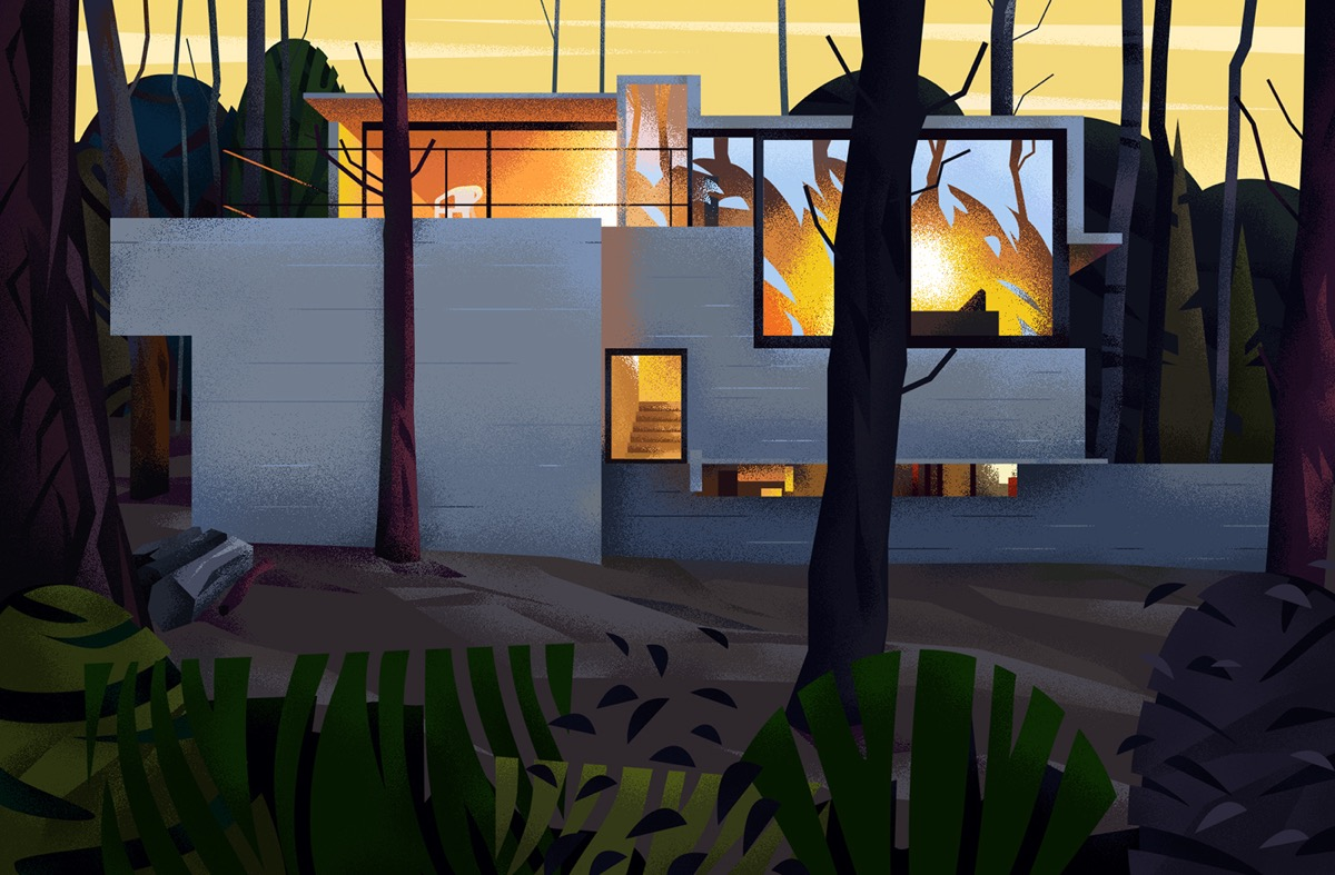 Captivating Architectural Illustrations Of Homes Around The World images 1