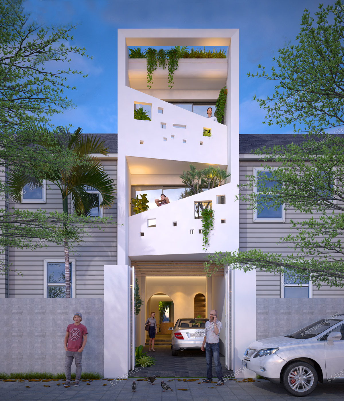 modern narrow facade house ideas - 13+ Modern House Design Small Lot  Pictures