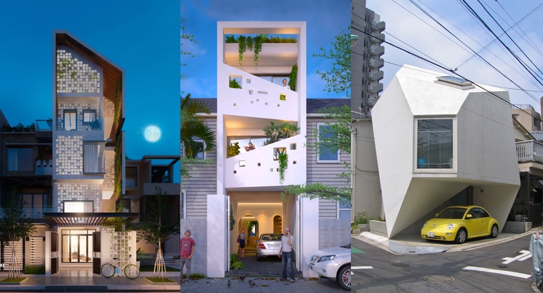 48 Narrow Lot Houses That Transform A Skinny Exterior Into Something Gorgeous House Exterior Design