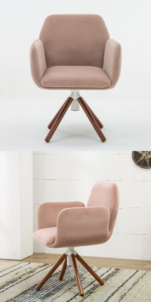 BUY IT · Modern Pastel Pink Swivel Accent Chair ...