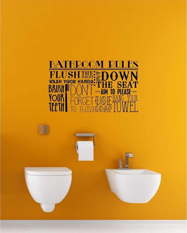 BUY IT · Bathroom Rules Vinyl Wall ...