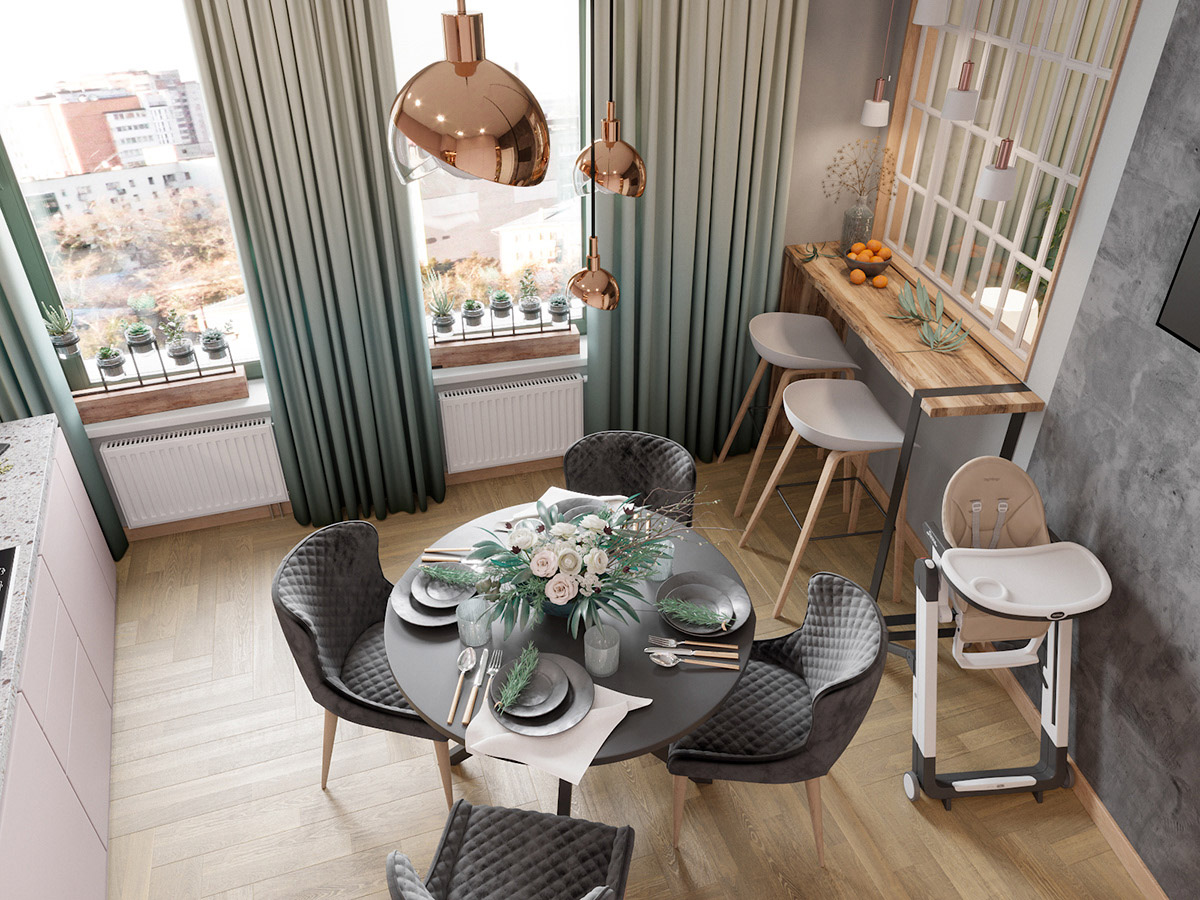 Scandinavian Style Interior Infused With Garden Greenery images 5