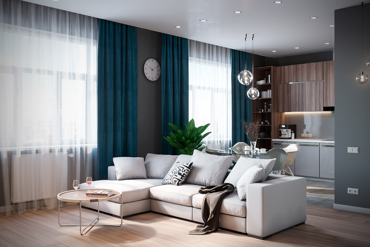 Grey Based Decor With Warming Accent Colours images 1