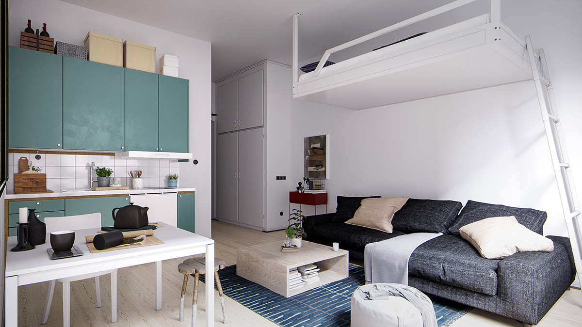4 Small Space Apartments That Use Clever Ways To Maximize Space images 1