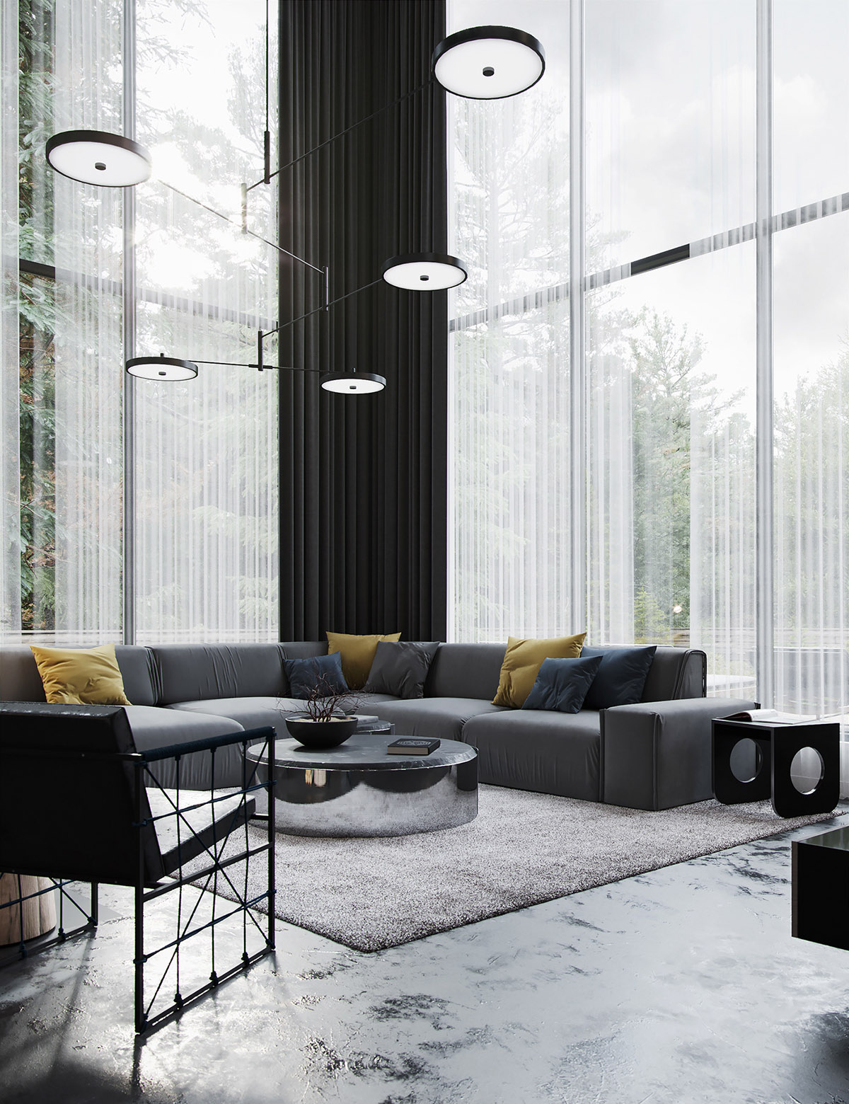 Black Decor With Colourful Accents images 2