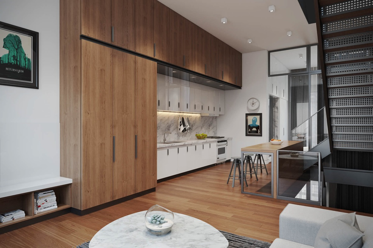50 Wonderful One Wall Kitchens And Tips You Can Use From Them images 47