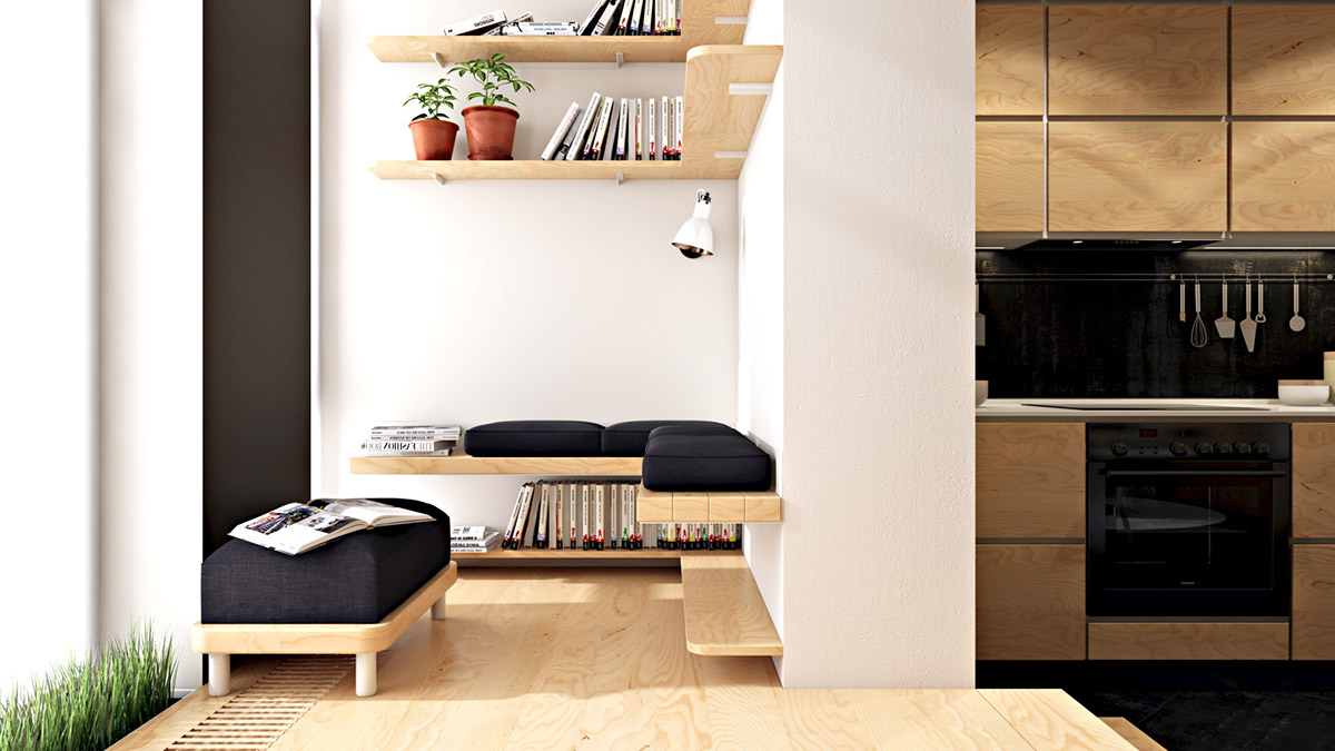4 Small Space Apartments That Use Clever Ways To Maximize Space images 16