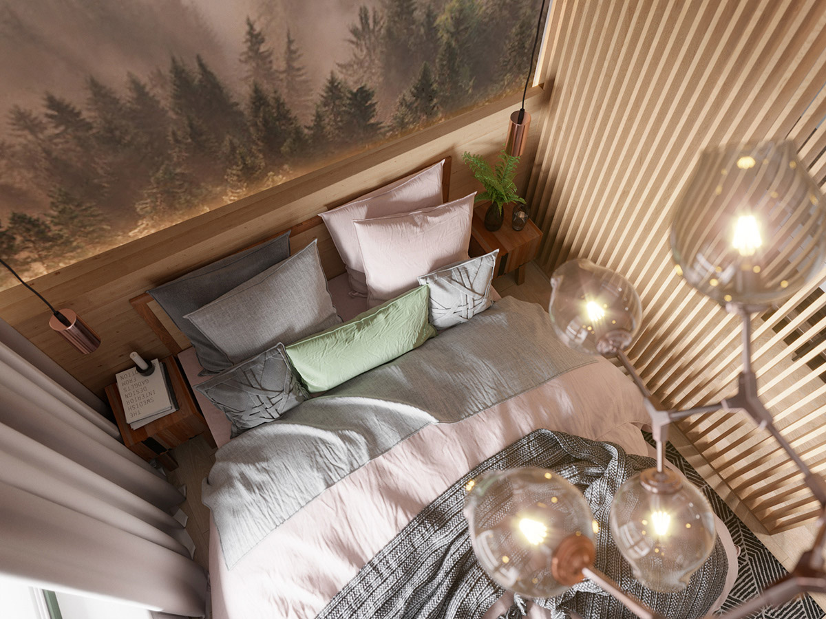 Scandinavian Style Interior Infused With Garden Greenery images 14