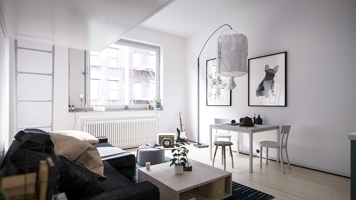 4 Small Space Apartments That Use Clever Ways To Maximize Space images 3