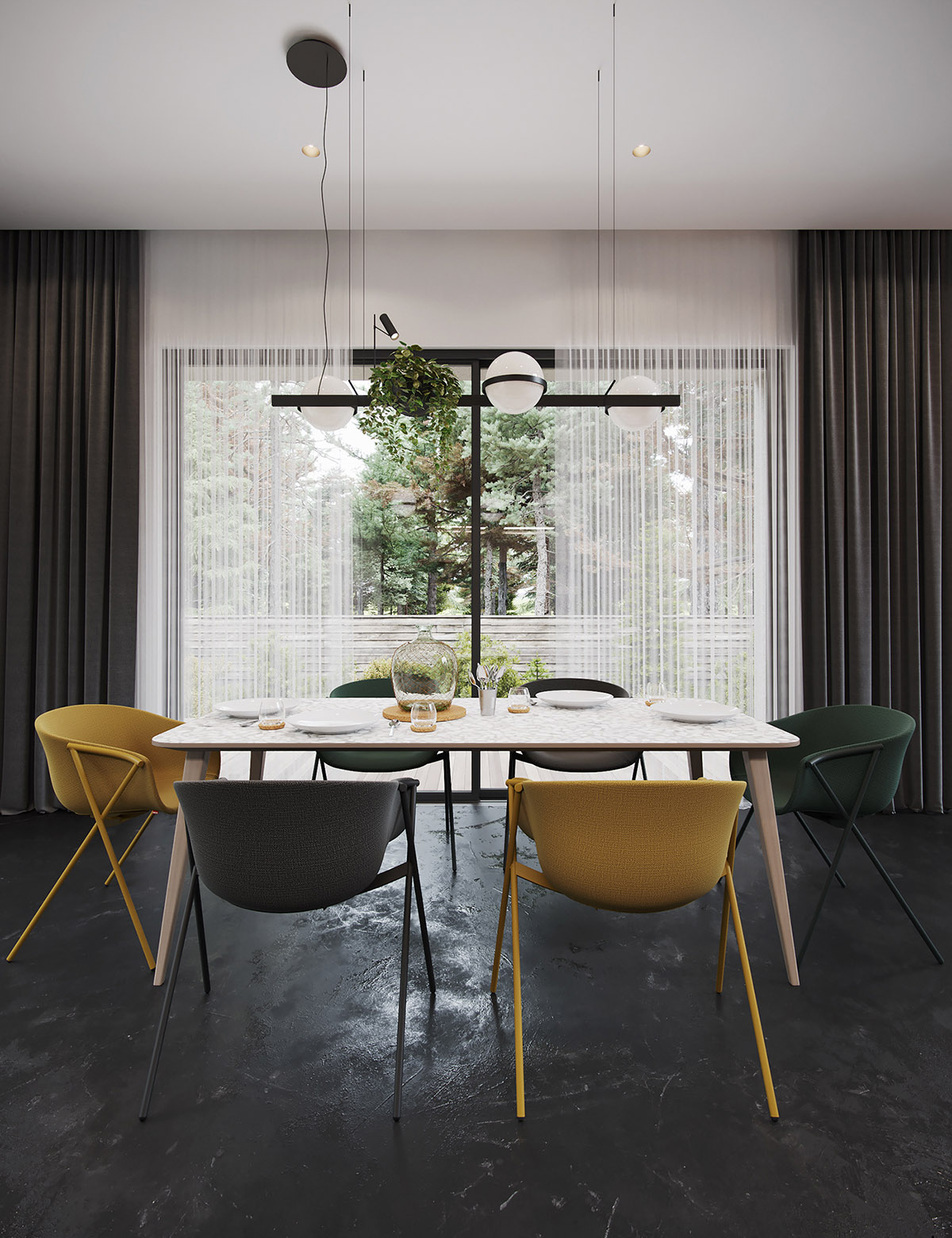 Black Decor With Colourful Accents images 4