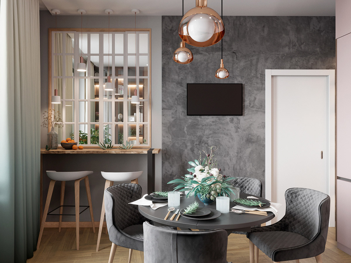 Scandinavian Style Interior Infused With Garden Greenery images 4
