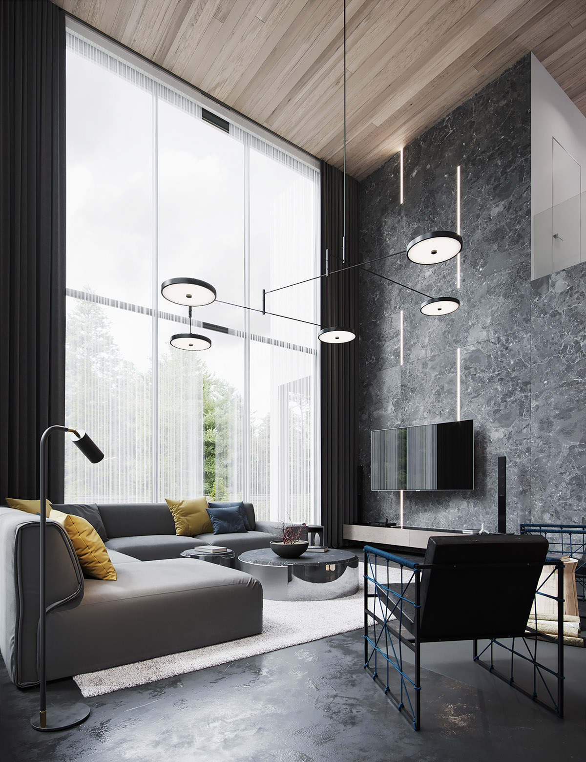 Black Decor With Colourful Accents