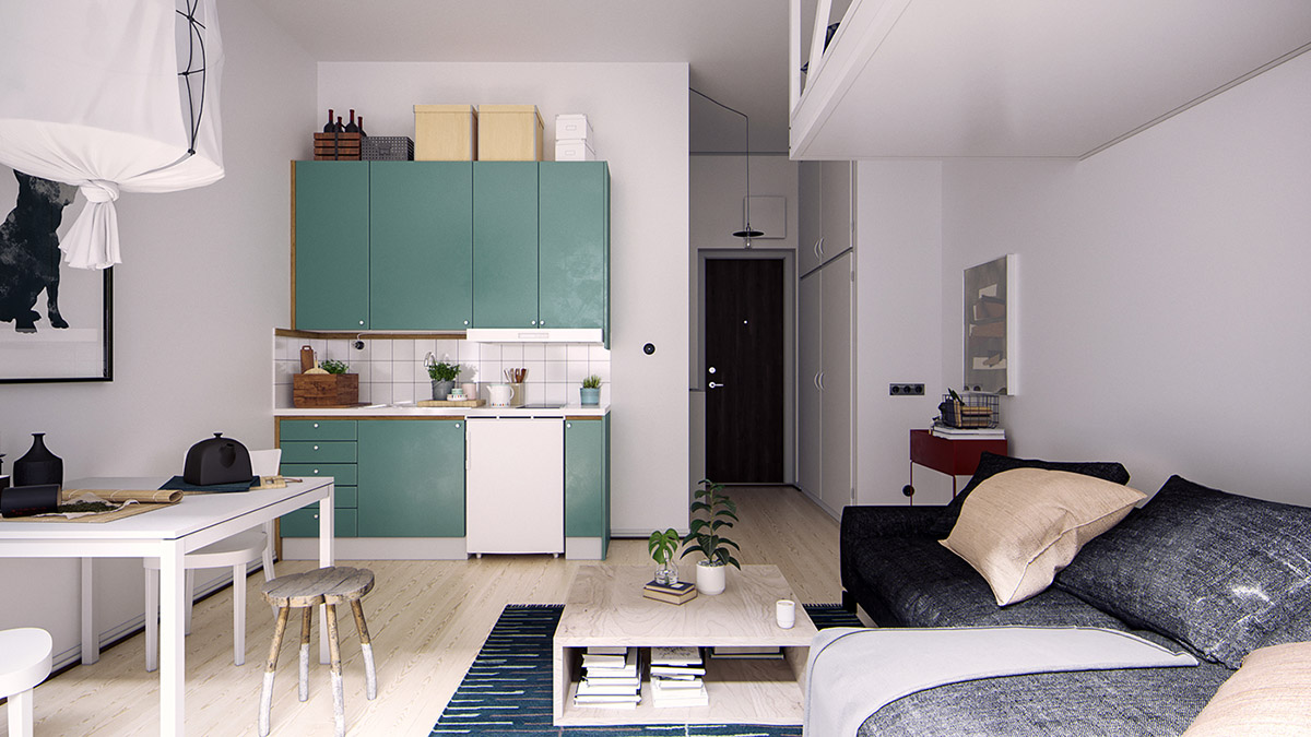 4 Small Space Apartments That Use Clever Ways To Maximize Space images 4