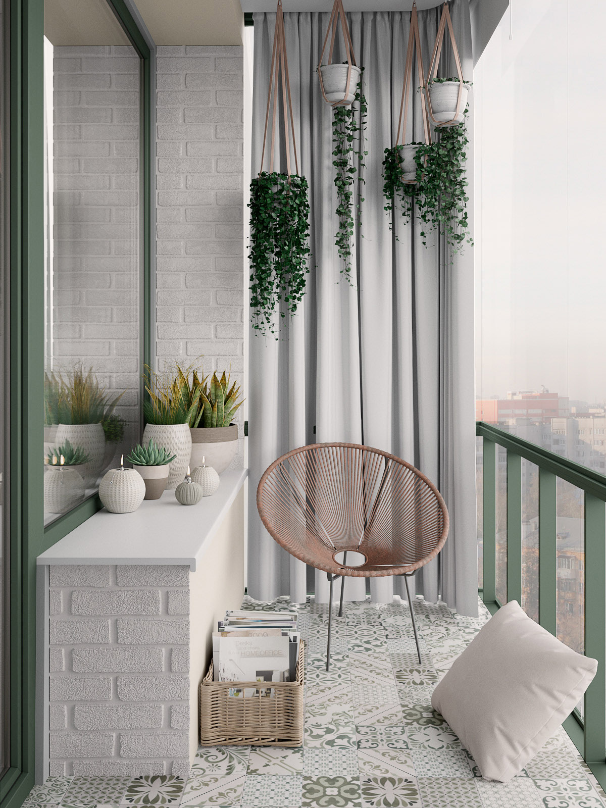 Scandinavian Style Interior Infused With Garden Greenery images 10