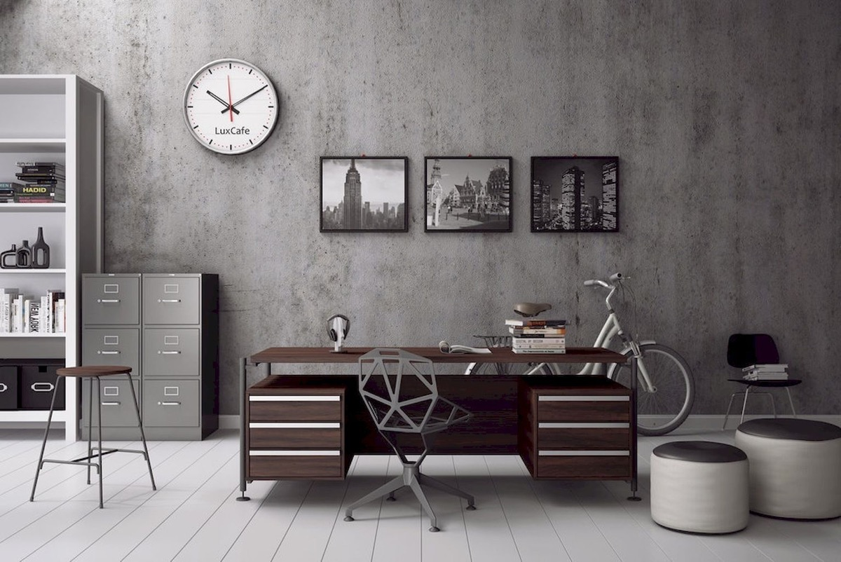33 Inspiring Industrial Style Home Offices That Sport Beautiful Workspaces images 4