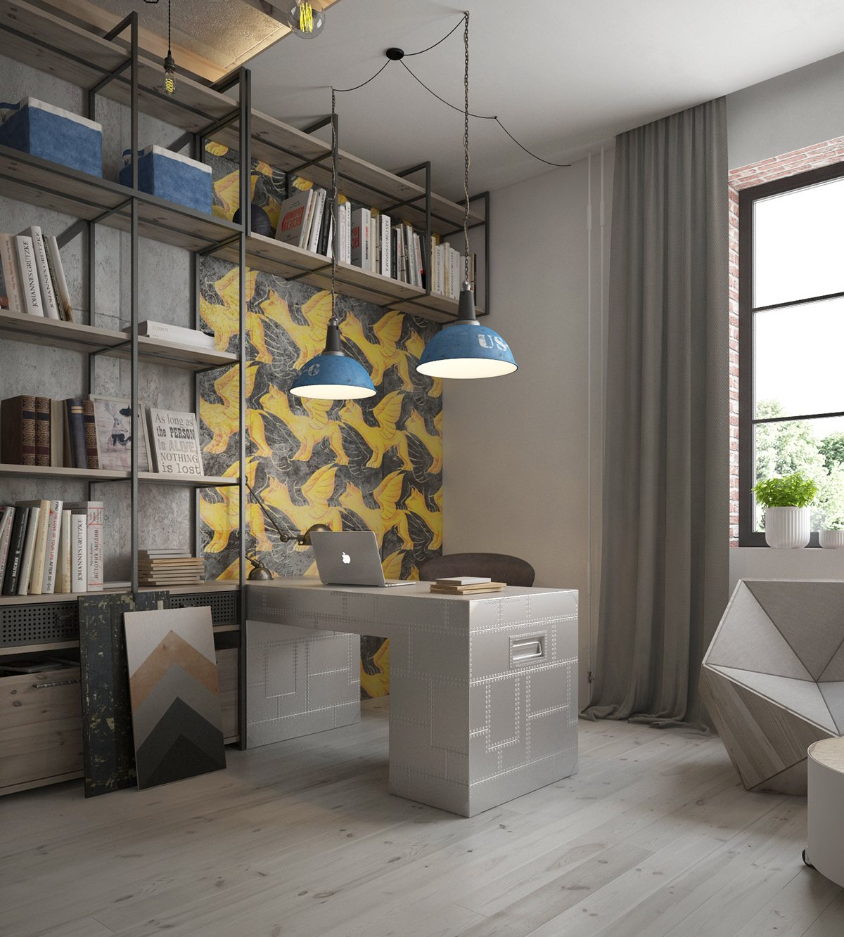 33 Inspiring Industrial Style Home Offices That Sport Beautiful Workspaces images 10