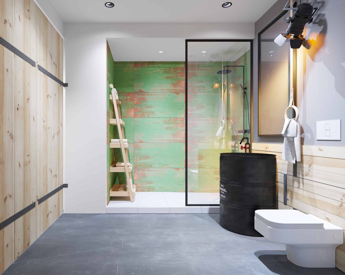 51 Industrial Style Bathrooms Plus Ideas & Accessories You Can Copy From Them images 3